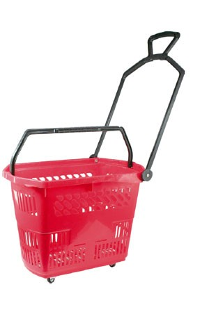 Plastic Wheel Shopping Cart KB-E06