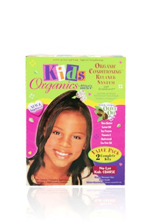[Africa's Best-box#72] Kid's Organics Conditioning Relaxer System - Coarse [2 complete kits]
