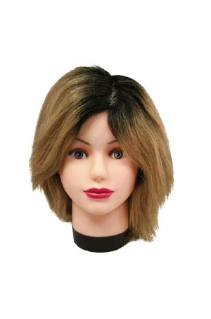 [#M-No.1] Practice Out Grow Mannequin Human Hair #1B/406 (8b)