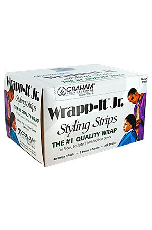 [Sanek-#37350] Wrapp-It Jr. [Black] (40 strips/9pk/bx) -bx