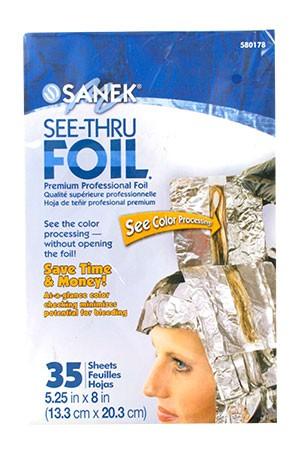 """[Sanek-#580178] See-Thru Foil (5.25""""x8""""x35 sheets/pk) -pk"""