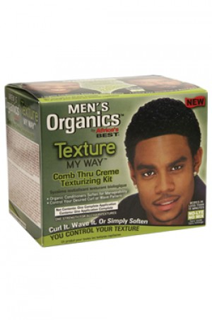 [Africa's Best-box#61] Menbs Organics Texture My Way Comb Thru Texturizing Kit