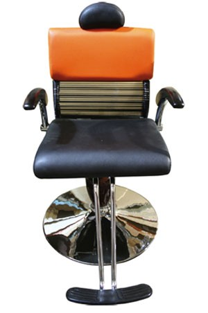 SALON CHAIR Y157-2 Black & Orange
