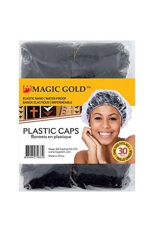 [Magic Gold#5633]30 pcs Plastic Cap #Black