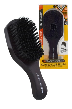 [#6808] Magic Gold Hard Curved Club Brush  -pc