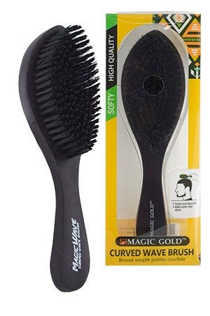 [#6809] Magic Gold Softy Curved Wave Brush  -pc