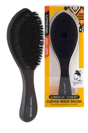 [#6810] Magic Gold Hard Curved WaveBrush  -pc