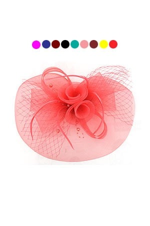[#7599] Fascinator Hat with Clip On Asst -pc