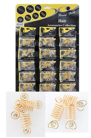 [#CTG5 ] Gold Hair & Nail Ring Bead [18/pk]-pk