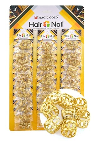 [#CX7200 ] Gold Hair & Nail Ring Bead [36/pk]-pk