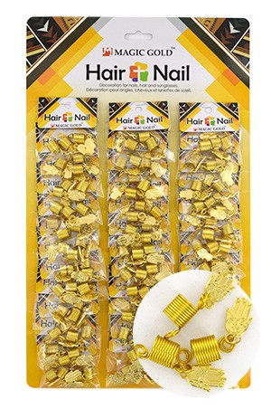 [#CX7210 ] Gold Hair & Nail Ring Bead [36/pk]-pk