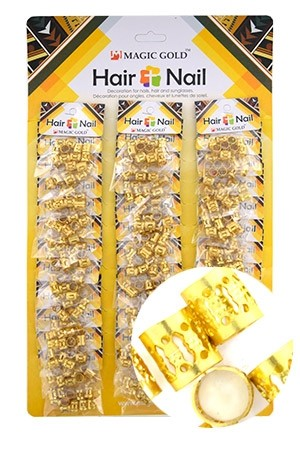 [#CX7491 ] Gold Hair & Nail Ring Bead [36/pk]-pk