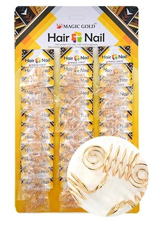 [#CX7493 ] Gold Hair & Nail Ring Bead [36/pk]-pk