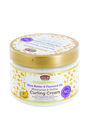 [African Pride-box#77] Moisture Miracle Shea Butter & Flaxseed Curl Cream (12 oz)