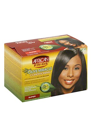 [African Pride-box#3] Olive Miracle No-Lye Relaxer System (Super)