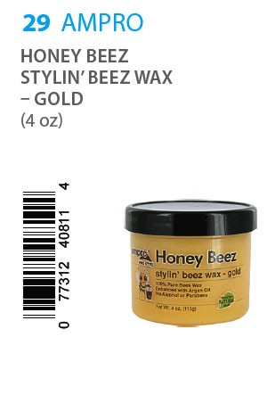 [Ampro-box#29] Styl Honey Beez Wax - Gold (4 oz)