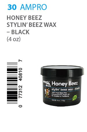 [Ampro-box#30] Pro Styl Honey Beez Wax - Black (4oz)