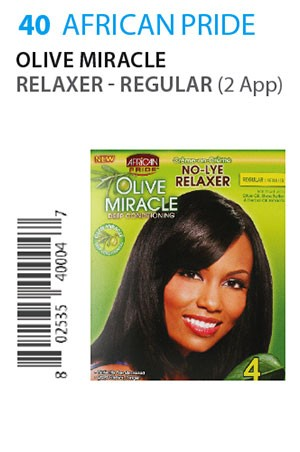 [African Pride-box#40] Olive Miracle Relaxer[4Touch/2App]-Reg