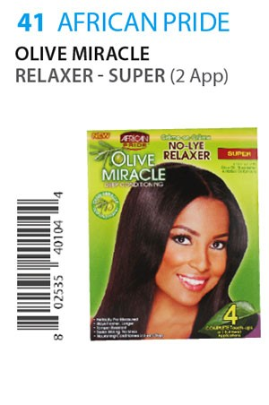 [African Pride-box#41] Olive Miracle Relaxer[4Touch/2App]-Sup