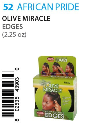 [African Pride-box#52] Olive Miracle Edges (2.25oz)
