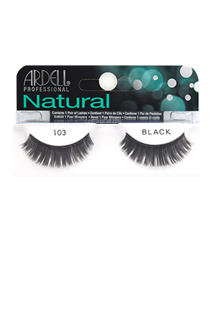 [Ardell] Natural Eyelashes #103 (Black)