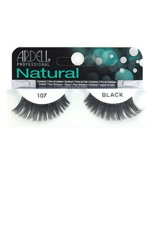 [Ardell] Natural Eyelashes #107 (Black)