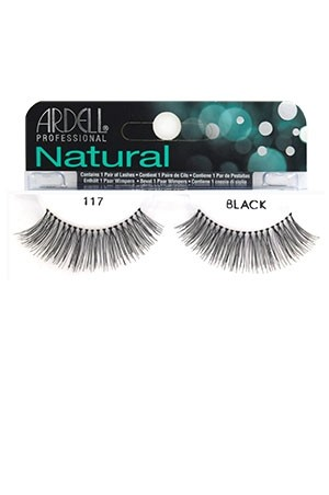 [Ardell] Natural Eyelashes #117 (Black)