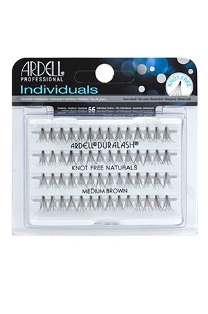 [Ardell] Eyelashes Individuals Knot Free Flares (Medium Brown)