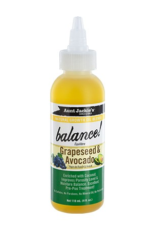 [Aunt Jackie's-box#25] Natural Growth Oil-Grapeseed&Avocado (4oz)