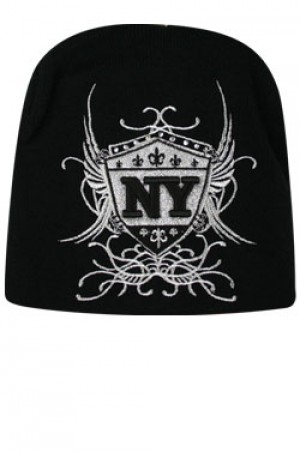 NY Knit Wing Cap  - #BE1040 (Silver)