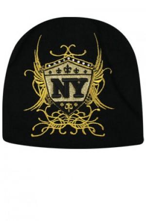 NY Knit Wing Cap  - #BE1041 (Gold)