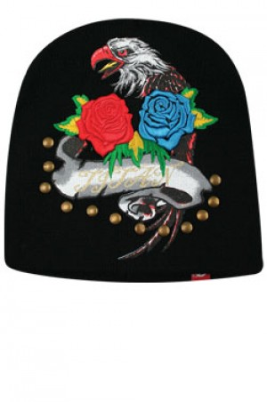 NY Knit Two Rose&Eagle Cap  - #BE1048 (Multi)