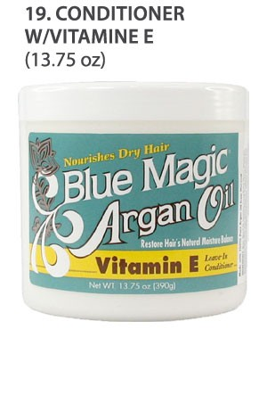 [Blue Magic-box#19] Argan Oil Conditioner W/Vit. E(13.75oz)