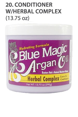 [Blue Magic-box#20] Argan Oil Conditioner W/Herbal Complex(13.75oz)