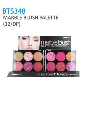 [BTS348-box#45] Beauty Treats Marble Blush Pallette [12/DP]