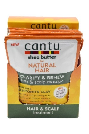 [Cantu-box#61] Bentonite Clay  (1.5 oz x 6pc)