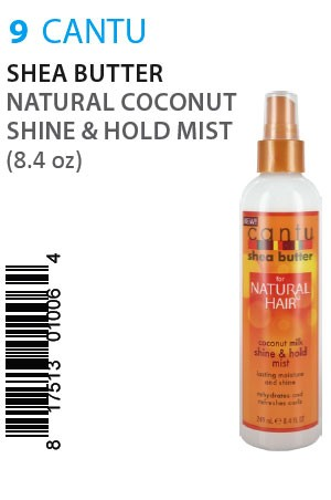 [Cantu-box#9] Shea Butter Natural Coconut Shine & Hold Mist (8.4oz)