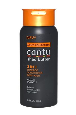 [Cantu-box#40] Men's Shea Butter 3in1Shampoo Conditioner Body Wash