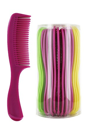 [ Magic Gold #4661] Handle Comb Asst (40pcs/pk) -jar