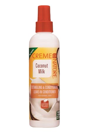 [Creme of Nature-box#85] Coconut Milk Detangling & Conditioning Leave-In Conditioner (8.45oz)