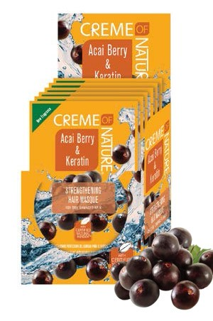 [Creme of Nature-box#90] ACAI &Keratin Strengthening Hair Masque (1.75oz) 6pcs/ds