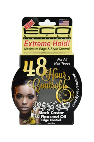 [Eco Styler-box#92] 48Hour Control Black Castor&Flaxseed Oil Edge Control