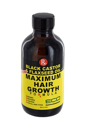 [Eco Styler-box#87] Black Castor & Flaxseed Oil Maximum Hair Growth Oil (4oz)
