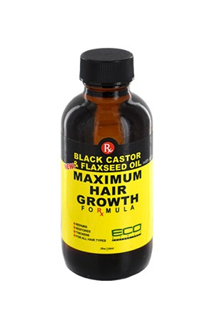 [Eco Styler-box#88] Black Castor & Flaxseed Oil Maximum Hair Growth Oil (2oz)