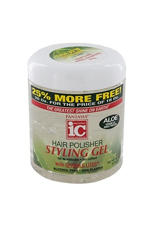 [Fantasia-box#40B] IC Aloe Hair Polisher Styling Gel (20 oz)