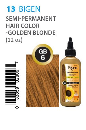 [Bigen-box#13] Semi-Permanent Hair Color #GB6 Golden Blonde