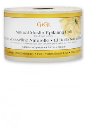 "[GiGi-box#13] Natural Muslin Epilating Roll (3.25""X40yd)"
