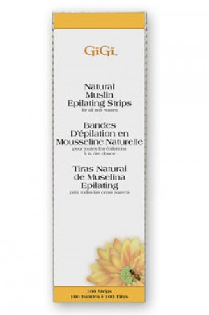 "[GiGi-box#7] Natural Muslin Epilating Strips - 3""X9"" (100pk)"