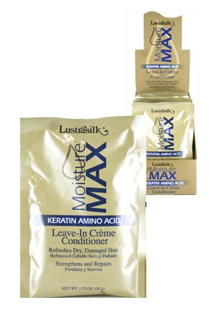 [Lustrasilk-box#49] Moisture Leave-In Creme Conditioner packet display (1.75oz/dz/ds)