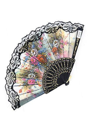 Magic Gold Fashion Folding Fan #6564 - dz